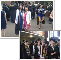 5月 2017年次女の卒業式に出席